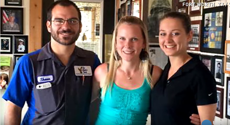A waitress notices something is missing from the table, and brings a couple to tears